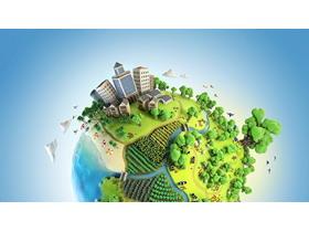 绿色生态环境新能源PPT背景图片