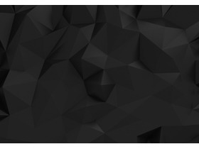 黑色低平面多边形PowerPoint背景图片