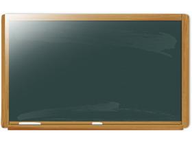 精致黑板幻灯片背景图片
