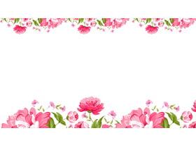 五张粉色艺术花卉PPT背景图片
