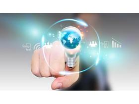 创意科技行业PPT背景图片