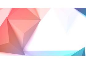 柔光�L格的彩色多�形PPT背景�D片