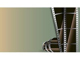 老式电影胶片PPT背景图片