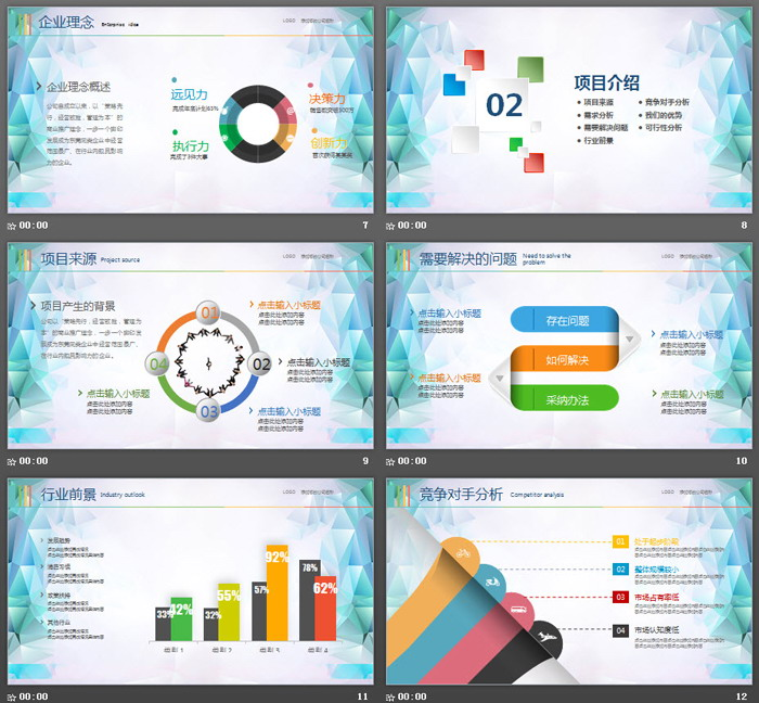 《奔跑吧梦想》创业融资计划书PPT模板