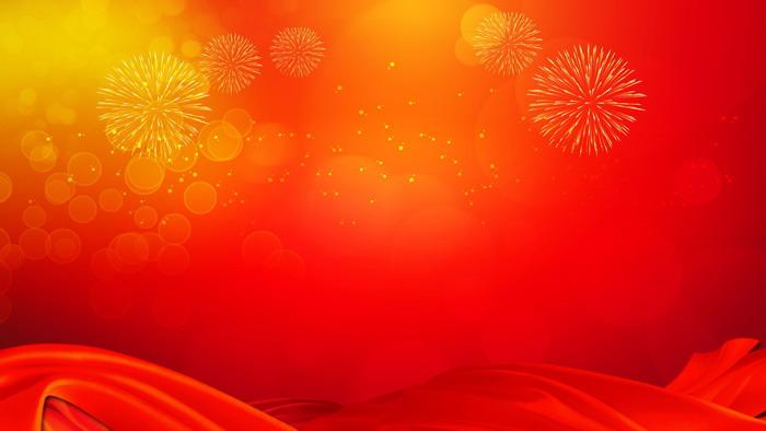 ppt背景 节日背景图片 三张红色礼花新年ppt背景图片  关键词:烟花