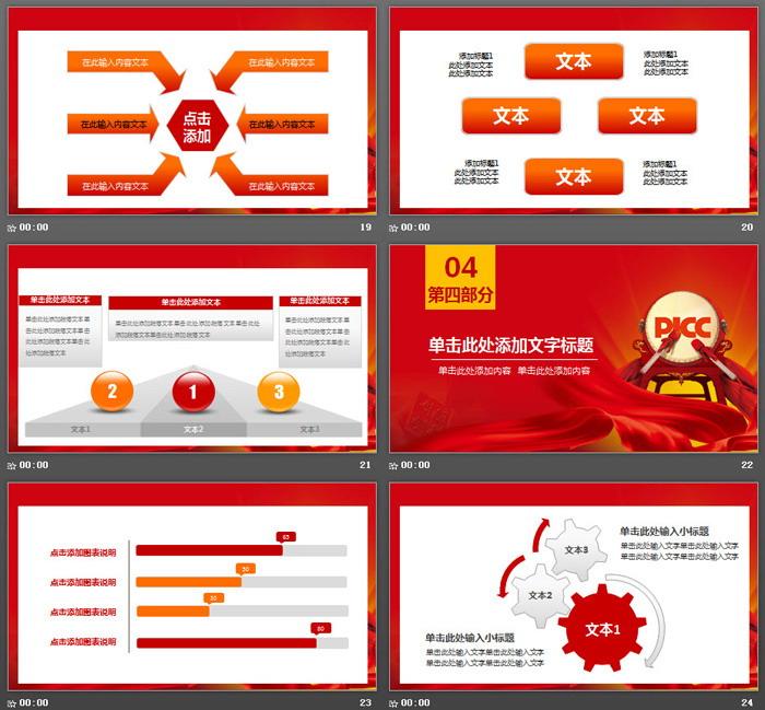 中国人保PICC年终工作总结PPT模板