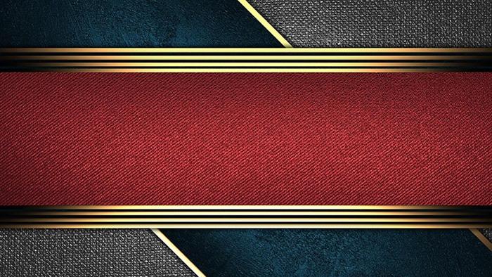 金色边框的布料PPT背景图片