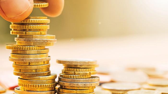 金币硬币PPT背景图片