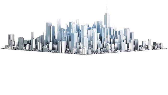 立体城市app自助领取彩金38模型PPT背景图片
