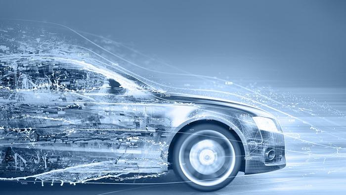 抽象虚拟汽车ppt背景图片
