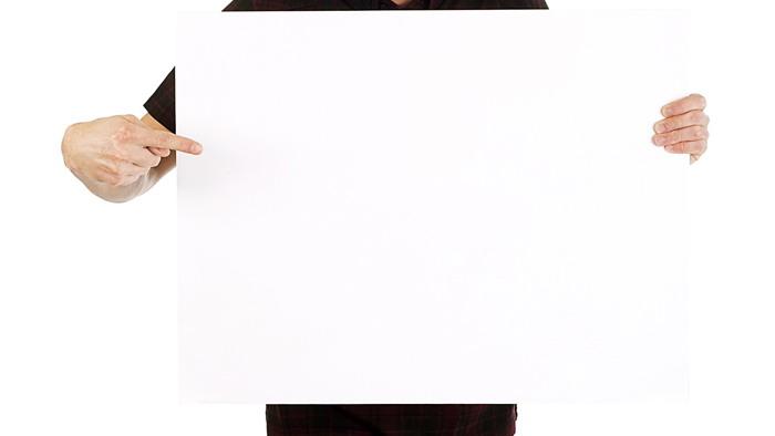 白板手势PPT背景图片