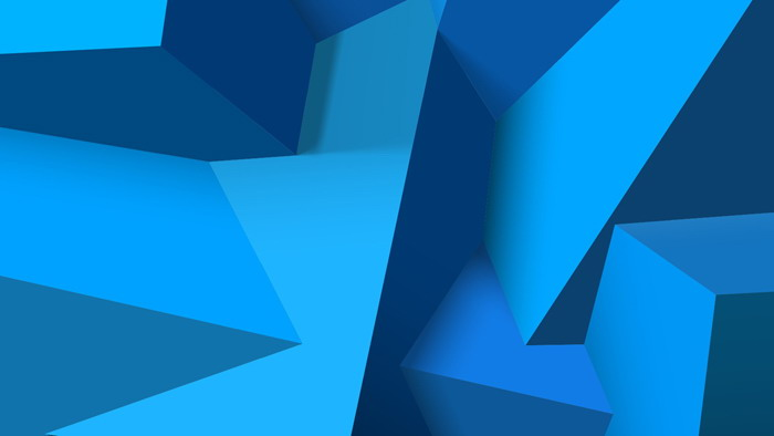 蓝色不规则立体多边形PPT背景图片