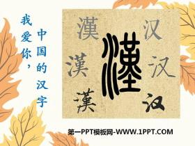 《我爱你,中国的汉字》PPT