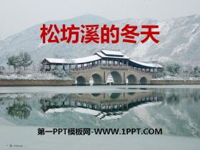 《松坊溪的冬天》PPT