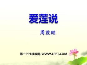《爱莲说》PPTtt娱乐官网平台