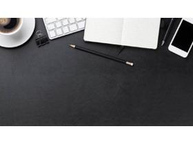 黑色精致�k公桌面PPT背景�D片