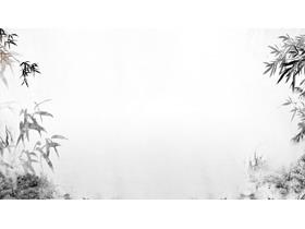 五张水墨竹子PPT背景图片