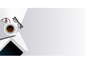 简洁办公桌面PPT背景图片