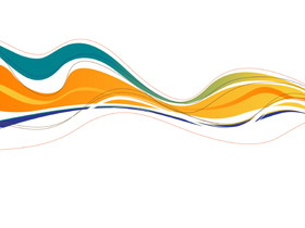 简洁彩色曲线PowerPoint背景图片