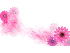 粉色唯美花朵PPT背景图片