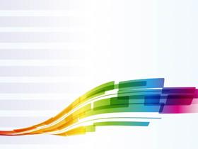 彩色�u�曲�PowerPoint背景�D片