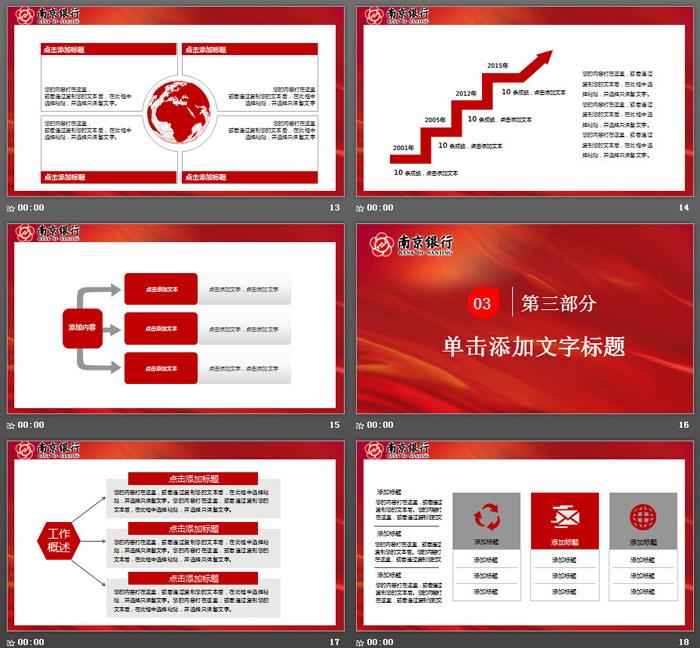 南京银行专用PPT模板