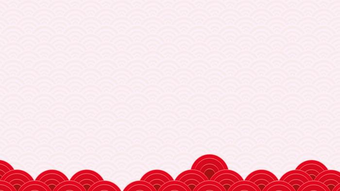 四张红色灯笼梅花背景的新年春节PPT背景图片