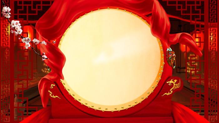 七张红色喜庆春节PPT背景图片