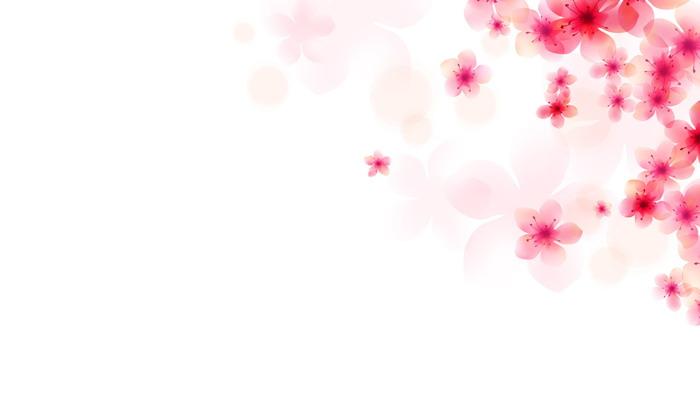 五张粉色唯美桃花PPT背景图片