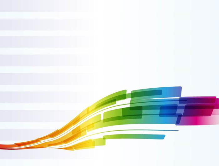 彩色渐变曲线PowerPoint背景图片
