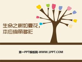 《生命之树如夏花,本应绚丽多彩》PPT