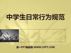 《中学生日常行为规范》PPT下载