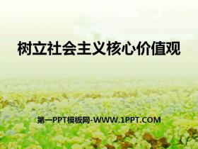 《树立社会主义核心价值观》PPT