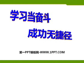 《学习当奋斗 成功无捷径》PPT