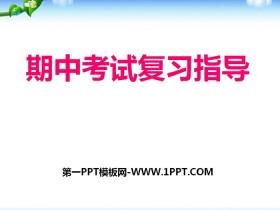 《期中考试复习指导》PPT