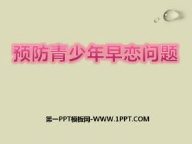 《预防青少年早恋问题》PPT