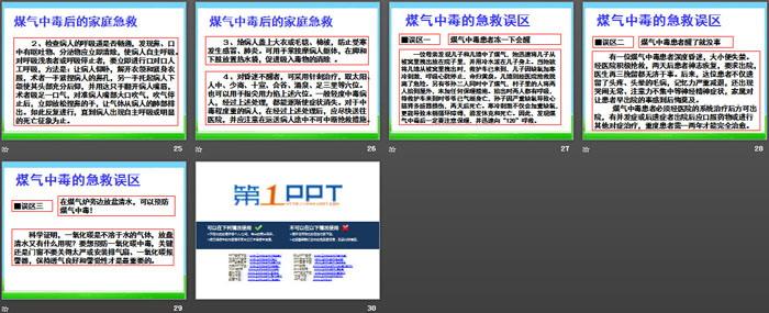 《冬季煤气中毒的预防与处理》PPT