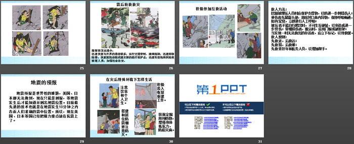 《防地震安全教育》PPT