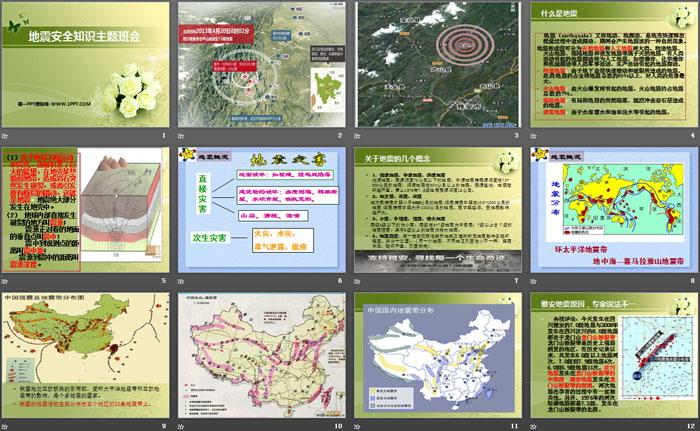 《地震安全知识主题班会》PPT