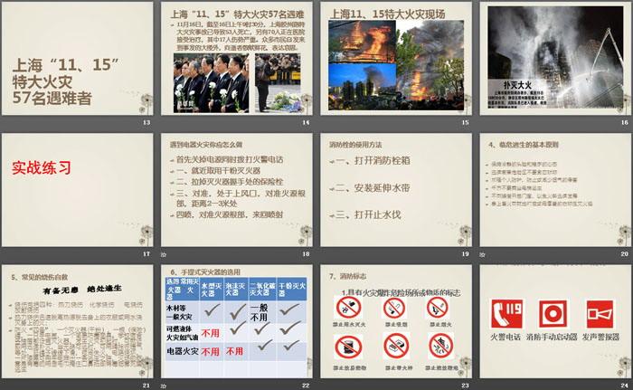 《提升消防能力 共创平安家校》PPT