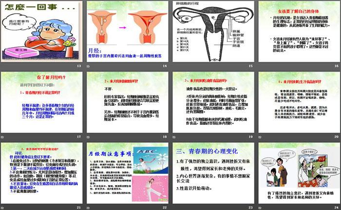 《女生青春期教育》PPT