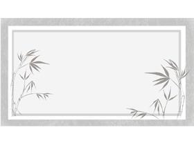 13张雅致古典水墨中国风PPT背景图片