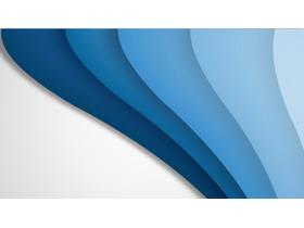 三张蓝色波浪曲线PPT背景图片