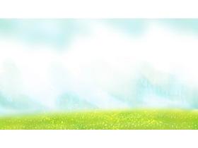 淡雅卡通绿色草地必发88背景图片