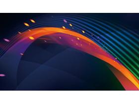 彩色科技线条PPT背景图片