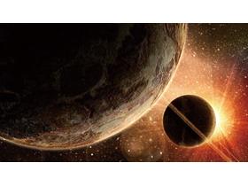 宇宙星球PPT背景图片