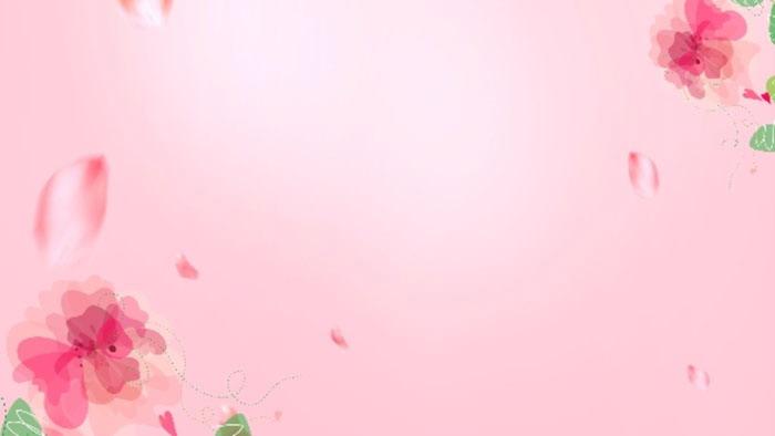 两张粉色唯美水彩花卉PPT背景图片