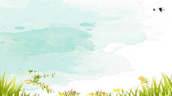 清新水彩卡通PPT背景图片