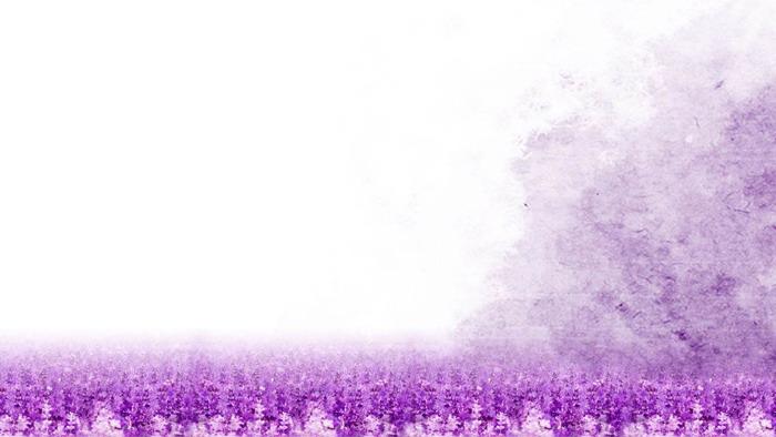 紫色唯美丁香花PPT背景图片