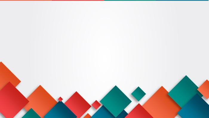 五张彩色方块多边形PPT背景图片